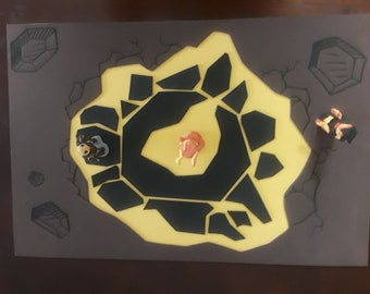 Volcano Playmat with Lava Characters