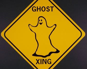 GHOST XING 12X12: .040  Aluminum w/vinyl graphics Sign