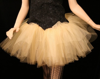 Adult tutu tulle skirt Gold iridescent glimmer petticoat dance wear ballet costume bridal wedding party -All Sizes - Sisters of the Moo