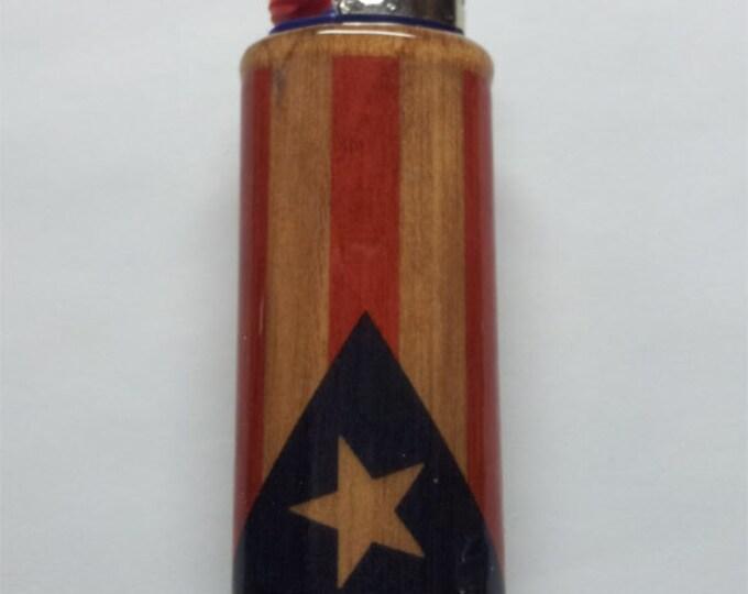 Puerto Rican Flag Lighter Case, Flag of Puerto Rico Lighter Holder, Lighter Sleeve