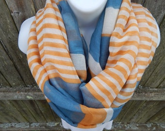 Three Color Infinity Scarf