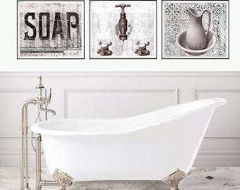 Bathroom wall decor   Etsy
