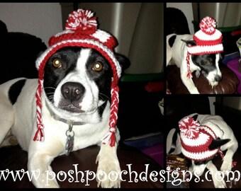 Striped Dog beanie - Medium Dog Hat