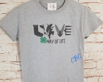 4-H Way Of Life Cow Youth,  cow shirt, farmer shirt, cow lover gift,  farmer gift, 4-H shirt