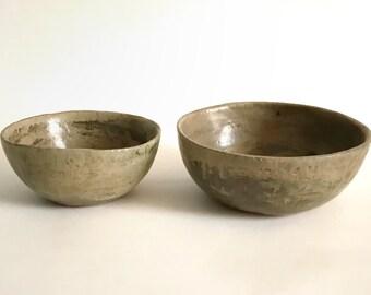 Stoneware Pottery Bowl in Ash