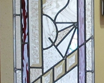 Abstract Stained Glass panel, custom made for your window.