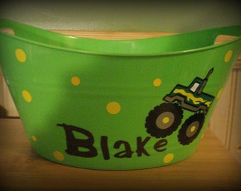 Monster Truck Easter Basket, Personalized Monster Truck Basket, Personalized Easter Basket, Monster Truck