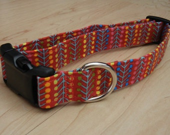 Modern stripes Dog Collar summertime