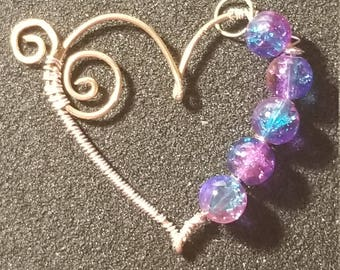 Loving wire Heart with Beads