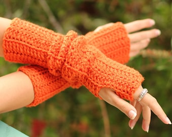 Arm Warmers in Pumpkin Spice by Mademoiselle Mermaid