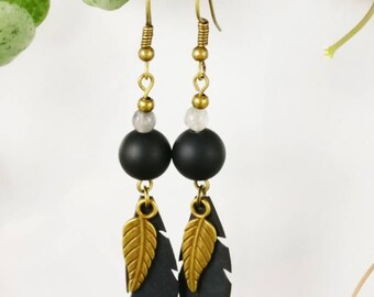 Delicate and elegant feather earrings