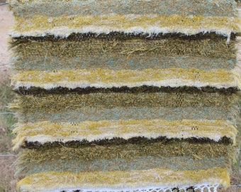 Multi Striped Amish Home Hand Woven Shag Rug