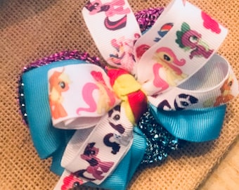 6 inch 4-Layer My Little Pony stacked boutique bow