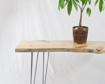 Knotty Pine Console Table - (SALE) - Rustic Modern - Reclaimed Wood