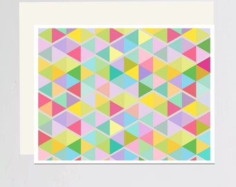 Geometric print Greeting card