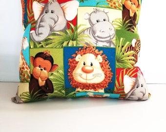 Zoo animals pillow/ animals pillow kids/kids animal pillows/children's pillows/zoo pillows/kids pillows/pillows for kids/gifts for kids