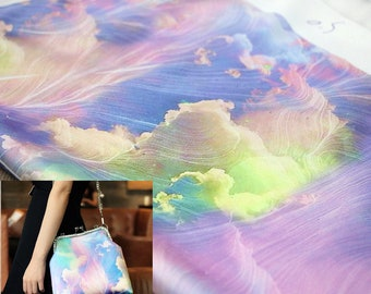 50*140cm Iridescent Clouds Gambiered Guangdong Gauze High Quality Qipao Cheongsam Fabric DIY Fabric for Sew Handmade Fabric