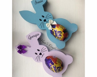 Personalised Easter Bunny Chocolate Creme Egg Holder