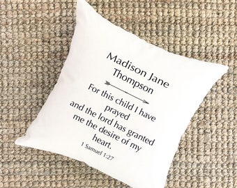 For This Child I Have Prayed | Adoption Gifts Adoption Pillow Gotcha Day Gift Adoption Prints Mothers Day Gift for New Mom Baby Shower Gift