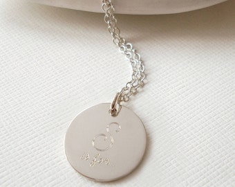 Sterling Silver Sister Necklace