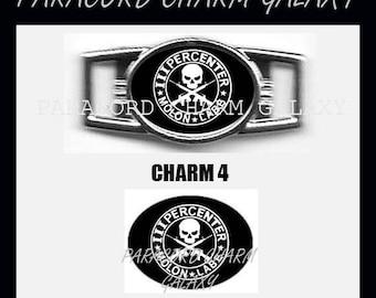 3 PERCENTERS Paracord Bracelet Charm Shoelace Charm Image 4