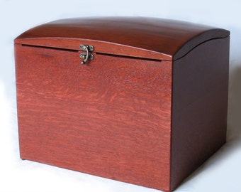 The Wish Box, recycled oak wine barrel wedding wish box with card slots