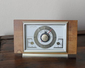 Vintage Airguide Barometer, Temperature, Humidity Made in USA, Airguide Instrument Company Chicago, Weather Guide