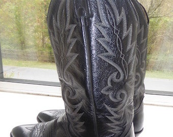 Vintage Mens 'Dan Post' Cowboy Boots MADE In USA - UK Size 7 - Nice!!