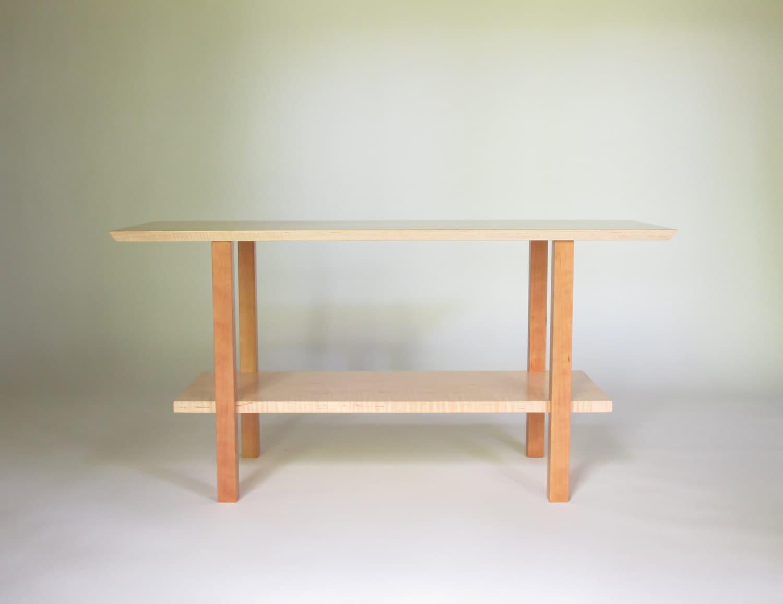 Foyer Furniture Names : Minimalist wood hallway bench for entryway narrow foyer