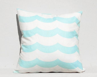 Sky Blue Wave Pillow cover
