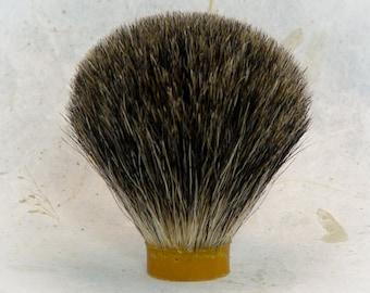 Dark badger knot, 22mm, shave knots, pure badger, brush head, diy, woodturning, shave hair knot, shave brush hair, brush knot, badger knot