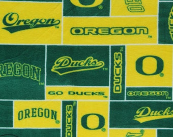 NCAA University of Oregon Ducks Fleece V2 Fabric by the yard