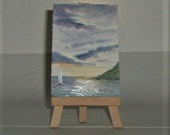 aceo twilight sailing(ref E203)