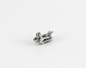 Sterling Silver Winter Sled Charm