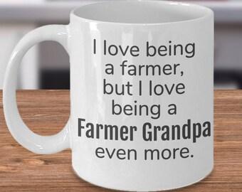 Grandpa Farmer, Grandparent Gift, Grandpa Farmer Mug, Grandpa Farmer Cups, Gift for Grandpa Farmer, Grandpa Mug Gifts, Grandpa Coffee Mug