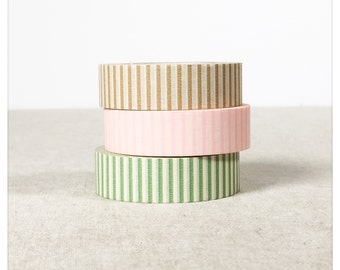 Stripe Washi Tape Set 3pk - Classiky