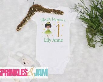 Princess Birthday Shirt, African American Princess, Girls 1st First Birthday, Princess 1st Birthday, Baby Girls Birthday Shirt
