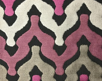 Upholstery Fabric - Leicester - Amethyst - Cut Velvet Home Decor Upholstery, Drapery, & Pillow Fabric by the Yard - Available in 13 Colors