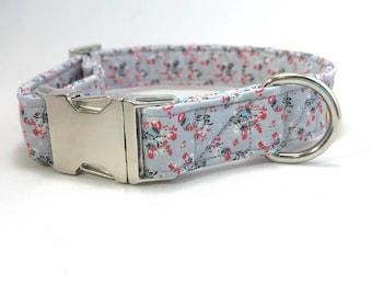 Grey Dog Collar · Floral Dog Collar.· Girl Dog Collar · Boy Dog Collar · Flower Dog Collar · Preppy Dog Collar · Metal Buckle Collar