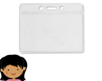 Add a Vinyl ID Badge Holder to your purchase from The Badge Patch - HORIZONTAL 1795
