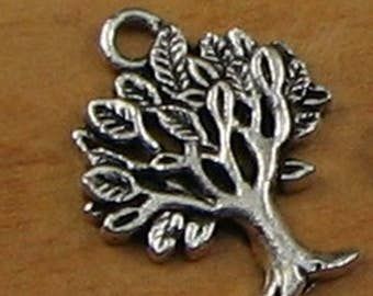Big Tree Charms Pendant Antique Silver Bracelet Earring - Tree of Life Charm  Jewelery Supplies Stamping