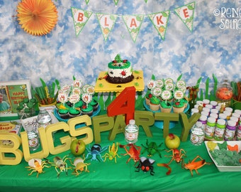 BUGS Printable Birthday Collection - Customized for your Bug Party - DIY Coordinating Design Accessories