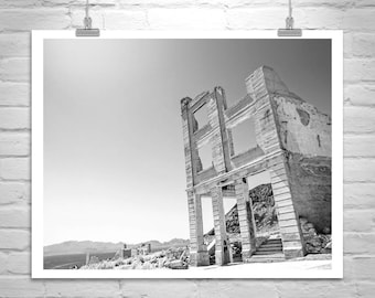 Ghost Town Picture, Death Valley Photograph, Rhyolite Picture, Death Valley Picture, Death Valley Art, Mojave Desert Art, Death Valley Gift