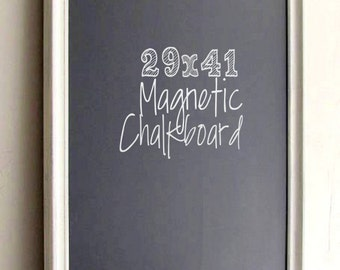 Large FRAMED CHALKBOARD Farmhouse Chalkboard Modern MAGNETIC Chalkboard Urban Decor Distressed Whitewashed Wood White Washed Home Office