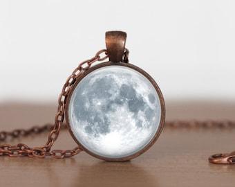 Full Moon Pendant Jewelry Full moon Necklace Moon jewelry