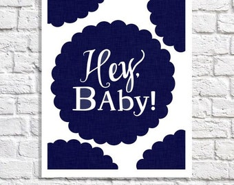 Navy Nursery Art Boy Room Decor New Baby Quote Girl Nursery Ideas Typography Poster Print For Nursery Pictures Blue And White Modern Artwork