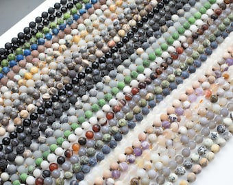 NEW COLORS!!!! Long Knotted - Preknotted Necklace-  Assorted Gemstones-8mm 36 inches Long- Ready to wear- Long Necklace - Selection A