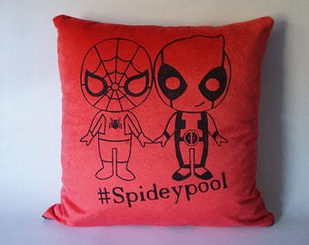 SpideyPool shippy throw pillow / cushion cover