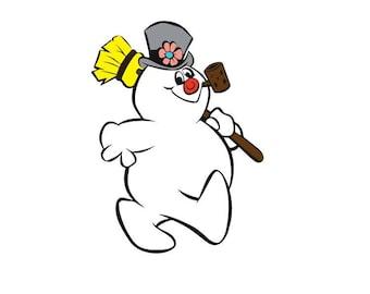 frosty snowman svg etsy rh etsy com Frosty the Snowman Face Clip Art Frosty the Snowman Clip Art Black and White