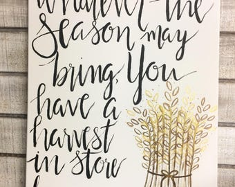 You Have A Harvest In Store For Me Original Painting  Worship Lyrics